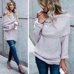 Sweaters - JULIE Purple Hint one shoulder sweater